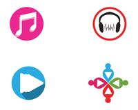 Music note symbols logo and icons template. 