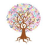 Music note tree concept nature care illustration Stock Images