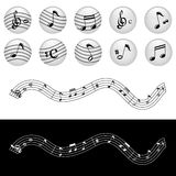 Music note vector Stock Images