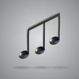 Music note vector icon Stock Images