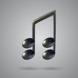 Music note vector icon Royalty Free Stock Image