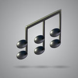 Music note vector icon Stock Image