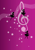 MUSIC NOTE. VECTOR ILLUSTRATION OF MUSIC NOTES stock illustration