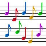 Music note vector Stock Photo