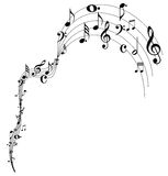 Music note waving design Royalty Free Stock Photography