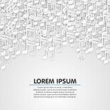 Music note white background design. Stock Image