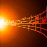 Music notes. Royalty Free Stock Photo