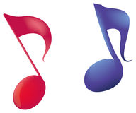 Music notes. Abstract colorful music notes with effects and texture Stock Photos