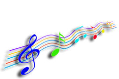 Music notes Stock Photography