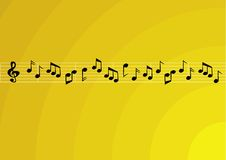 Music notes. Music theme background. Rasterized from vector format Stock Photography