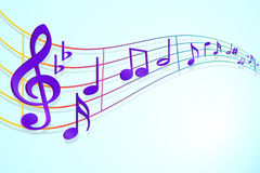 Music notes. An illustration of music notes Stock Photos