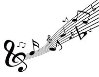 Music notes. Vector illustration of music notes Stock Photography