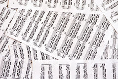 Music notes. Photography music notes like background Royalty Free Stock Photography