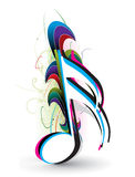 Music notes. Abstract wave music notes for design use, vector illustration Stock Photos