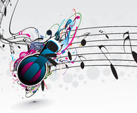 Music notes. For music design use,  illustration Royalty Free Stock Photos