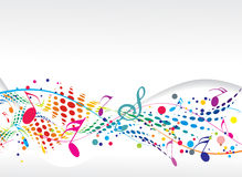 Music notes. Abstract music notes design for music background use,  illustration Stock Image