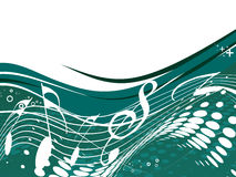 Music notes. For design use with space of your text,  illustration Royalty Free Stock Images