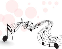 Music notes. For design use,  illustration Stock Image