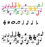 Music notes. Illustration of music notes on white background Royalty Free Stock Photos