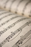 Music notes. Perspective view on Music notes royalty free stock photography