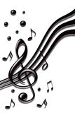 Music notes. Stylish design of music notes on the white background Royalty Free Stock Photography