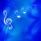 Music notes. A blue bakground illustration with music notes elements royalty free illustration