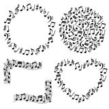 Music notes. Set of decorative musical notes Stock Illustration