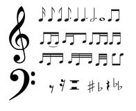Music notes. Isolated music notes and symbols.eps file is available stock illustration