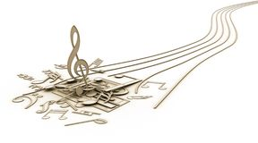 Music Notes. The end of Songs Royalty Free Stock Photos