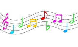 Music Notes. An illustration of Music Notes Stock Photo