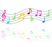 Music Notes. An illustration of Music notes with Multiple Colors Royalty Free Stock Photo