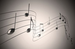Music notes. On Neutral Background stock illustration