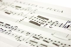 Music notes. Closeup music notes isolated on white Stock Photos
