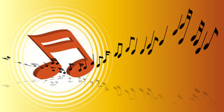 Music notes. Background - computer generated vector illustration Stock Photo