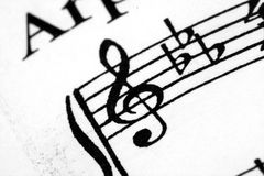 Music Notes. A macro of sheet music Stock Images
