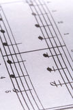 Music Notes. A macro of sheet music Royalty Free Stock Images