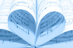Music notes. Classical music notes. background blues Royalty Free Stock Image