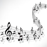 Music notes. On a solide white background royalty free illustration