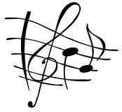 Music notes. Hand drawn nice music notes Royalty Free Stock Photos