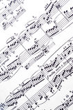 Music notes. Abstract, antique, background Royalty Free Stock Images