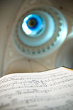 Music notes. Close-up of sheet music - music notes Royalty Free Stock Image