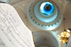 Music notes. Close-up of sheet music - music notes Royalty Free Stock Photos