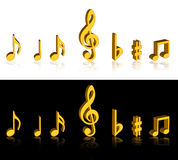 Music notes. On isolated background Royalty Free Stock Photography