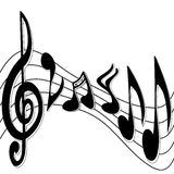 Music Notes. Flowing across the page Royalty Free Stock Photos