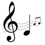 Music notes. The symbol of nice music notes Royalty Free Stock Photo