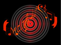 Music notes Stock Images