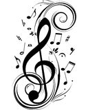 Music notes. Vector music notes for your design project. Very easy to edit file Stock Image