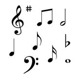 MUSIC NOTES. Vector Design Elements Stock Images