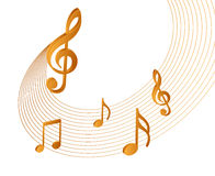 Music notes. Nice gradient illustration of music notes vector illustration