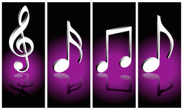 Music notes. Music symbols on gradient background Royalty Free Stock Image